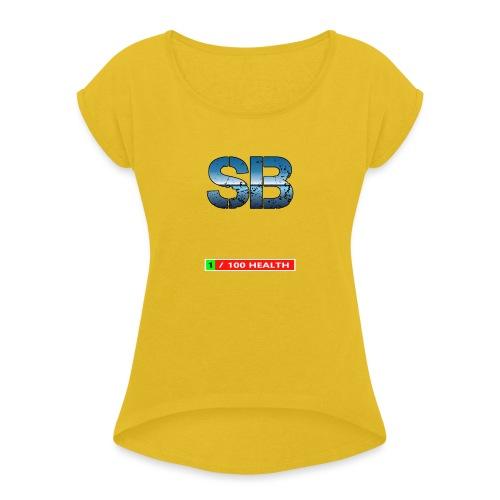 Health Tee Oh Shiiet! - Dame T-shirt med rulleærmer