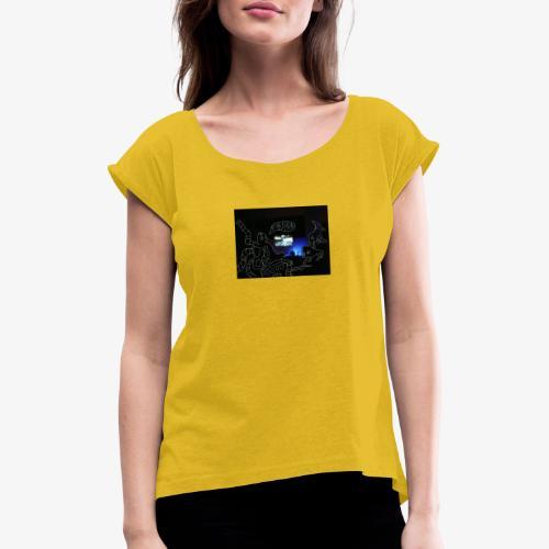 forfucksick - Frauen T-Shirt mit gerollten Ärmeln