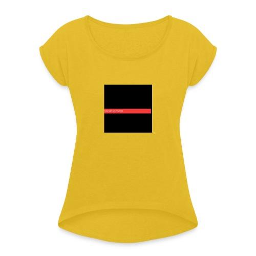 test allo test - T-shirt à manches retroussées Femme