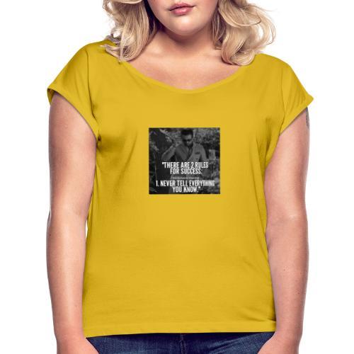 2rule - Vrouwen T-shirt met opgerolde mouwen