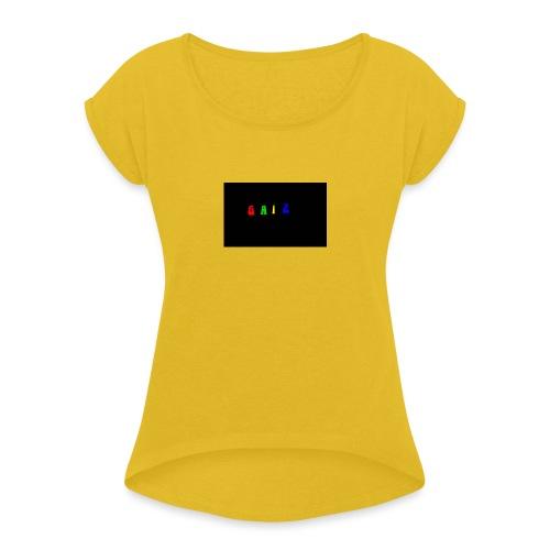 Gaiz - Maglietta da donna con risvolti