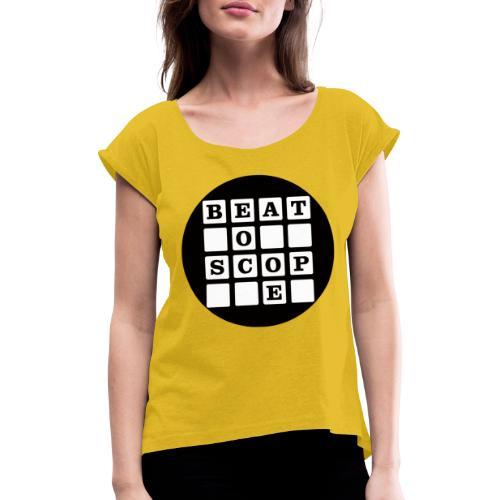 Beatoscope Logo - Frauen T-Shirt mit gerollten Ärmeln
