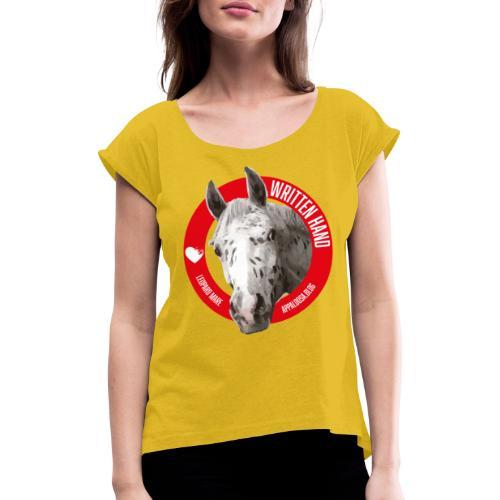 WRITTEN HAND - Maglietta da donna con risvolti