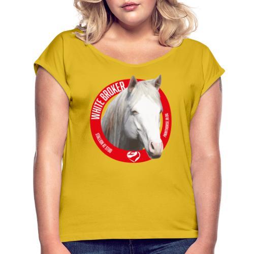 WHITE BROKER - Maglietta da donna con risvolti