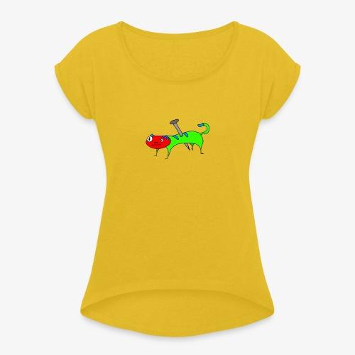 Kaatt - T-shirt med upprullade ärmar dam