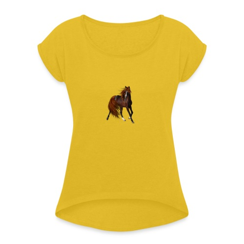 Horse Elite Edition - Women's T-Shirt with rolled up sleeves