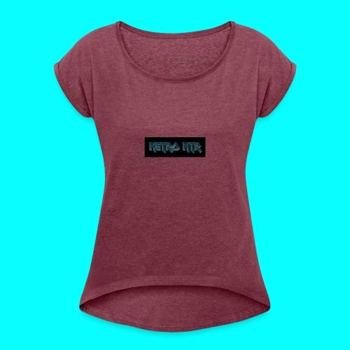 coollogo_com-6222185 - Vrouwen T-shirt met opgerolde mouwen