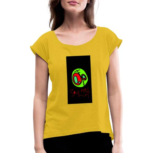 Sorpresa - Camiseta con manga enrollada mujer