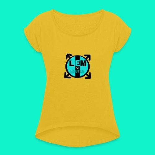 LEM SPORT CLUB - Vrouwen T-shirt met opgerolde mouwen