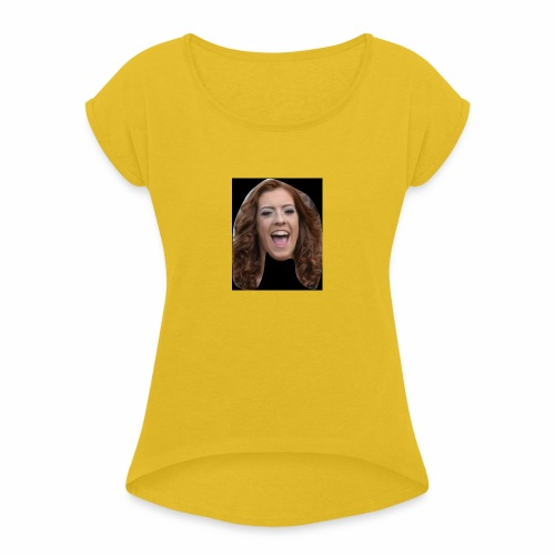 HMS Face - Women's T-Shirt with rolled up sleeves