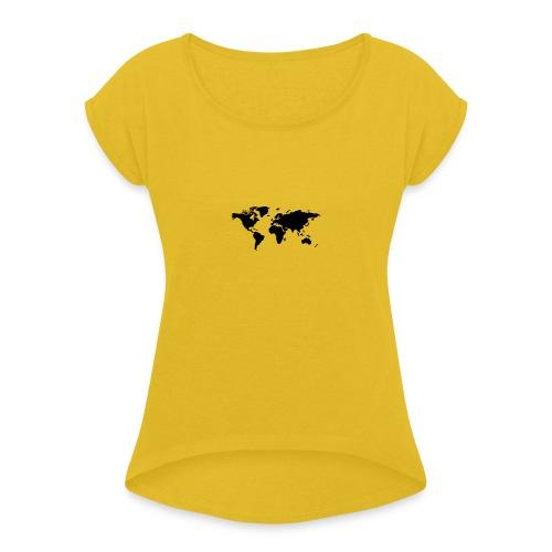 mundo - Camiseta con manga enrollada mujer