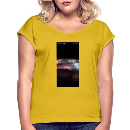 Tierra - Camiseta con manga enrollada mujer
