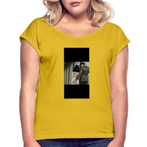 Erotic - Camiseta con manga enrollada mujer