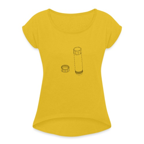 Gluestick (no text). - Women's T-Shirt with rolled up sleeves