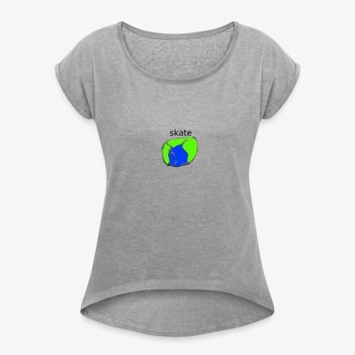 aiga cashier - Dame T-shirt med rulleærmer