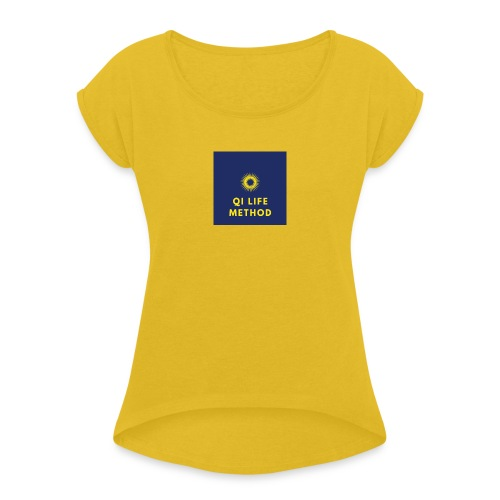 The Qi Life Method Sunlife Logo - Women's T-Shirt with rolled up sleeves