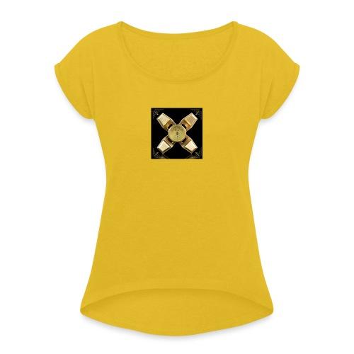 Spinneri paita - Naisten T-paita, jossa rullatut hihat