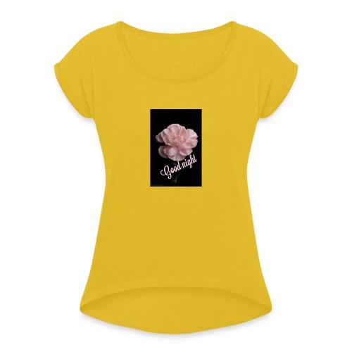 nelke - Frauen T-Shirt mit gerollten Ärmeln