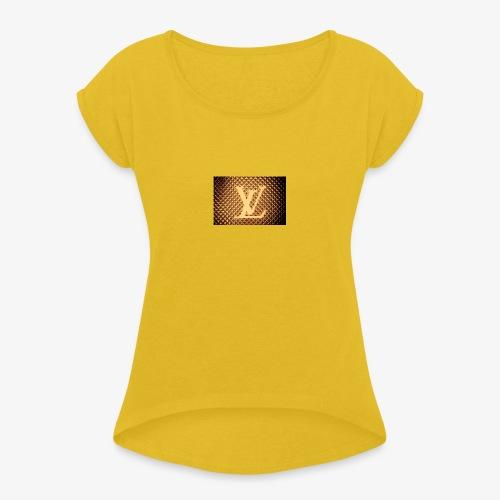 lvdam - T-shirt med upprullade ärmar dam