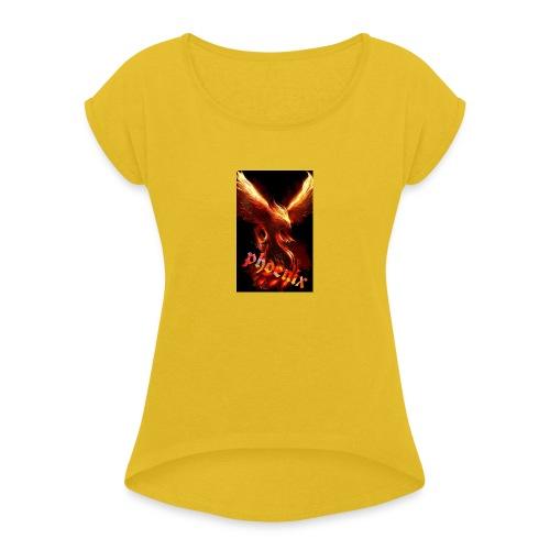 Design Get Your T Shirt 1563006383080 - T-shirt à manches retroussées Femme