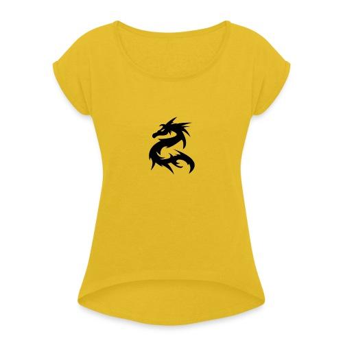 Spy-Tec Logo - T-shirt med upprullade ärmar dam