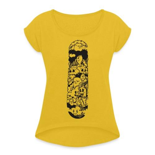 Imagination - Camiseta con manga enrollada mujer