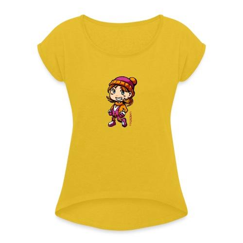 Tolden en hiver - T-shirt à manches retroussées Femme