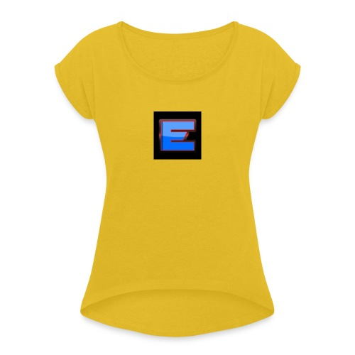 Epic Offical T-Shirt Black Colour Only for 15.49 - Women's T-Shirt with rolled up sleeves