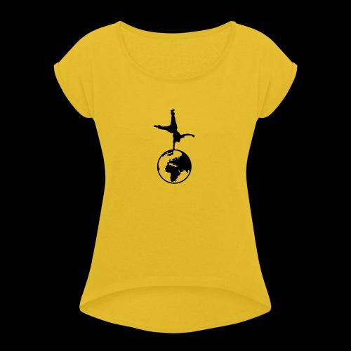 WPF Decent - Frauen T-Shirt mit gerollten Ärmeln