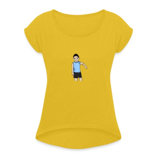 OfirGaming HD logo - Women's T-Shirt with rolled up sleeves