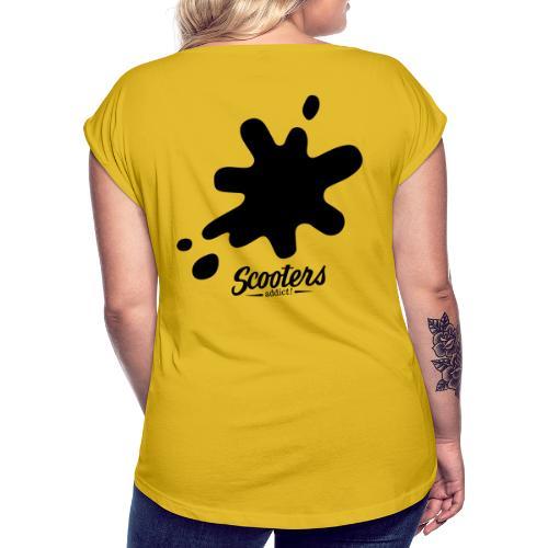 DL oil - T-shirt à manches retroussées Femme