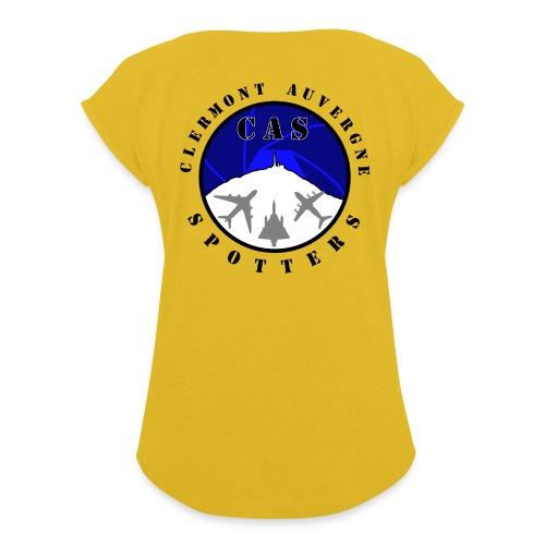 Logo CAS - T-shirt à manches retroussées Femme