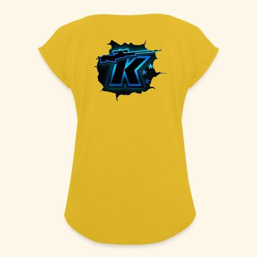 Kivvix Logo 2020 - T-shirt med upprullade ärmar dam