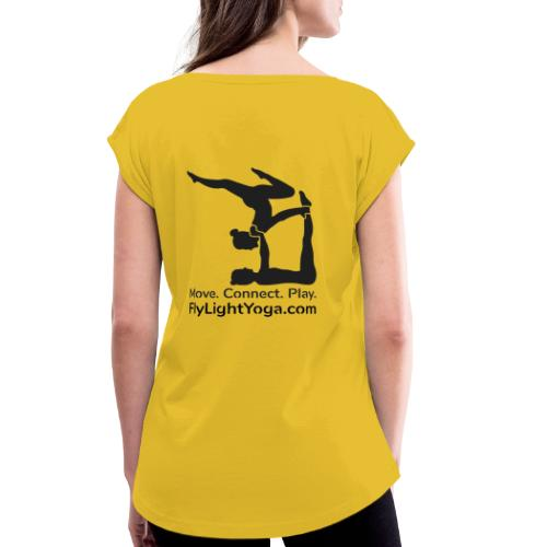 AcroYoga: Move Connect Play - Women's T-Shirt with rolled up sleeves