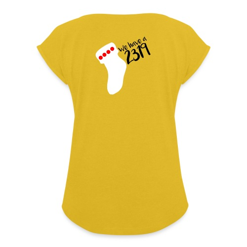 2319 - Women's T-Shirt with rolled up sleeves