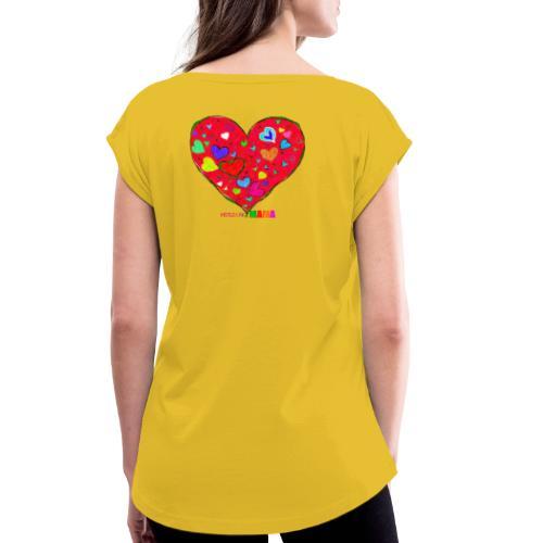 HerzensMama - Frauen T-Shirt mit gerollten Ärmeln