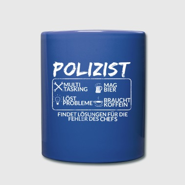 Der Polizist - Tasse einfarbig