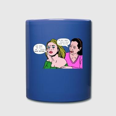 Pop_Art_Crying_Woman-01 - Tasse einfarbig