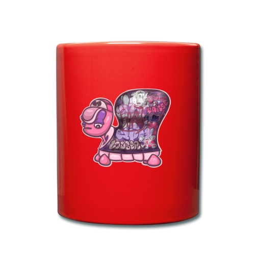 Graffiti Tag turtle / Schildkröte Graffiti Logo - Tasse einfarbig