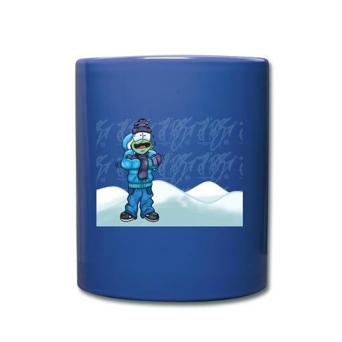 Freezing Turtle Snowboarder/Frierender Snowboarder - Tasse einfarbig
