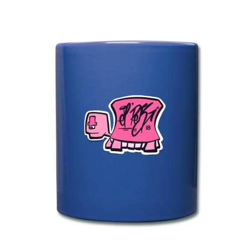 Tag turtle / Pink Schildkröte Logo - Tasse einfarbig