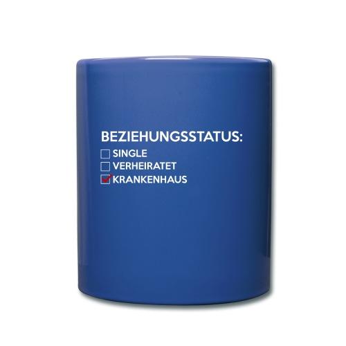 Beziehungsstatus - Krankenhaus - Tasse einfarbig