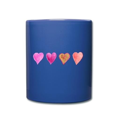 Herzen - Tasse einfarbig
