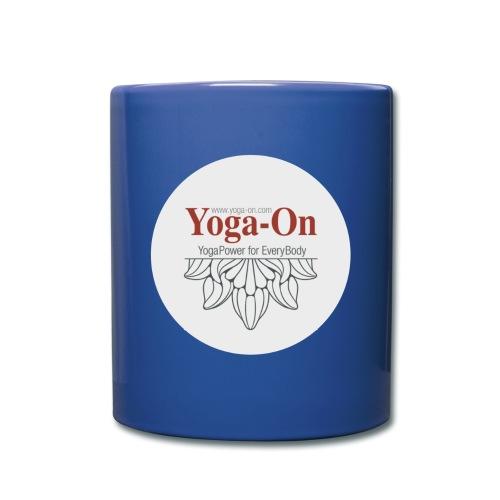 yoga-on - Tasse einfarbig