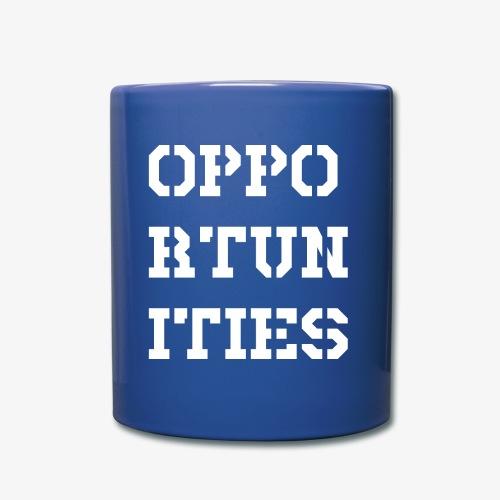 Opportunities - Gelegenheiten - weiß - Tasse einfarbig