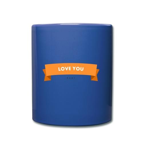 Love you 3 - Tasse einfarbig