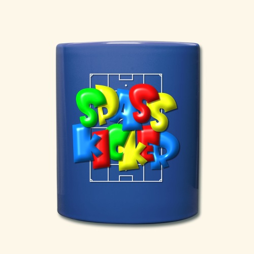 Spass Kicker im Fußballfeld - Balloon-Style - Tasse einfarbig