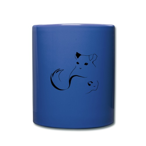 logo erittain iso mustana 1 png - Yksivärinen muki