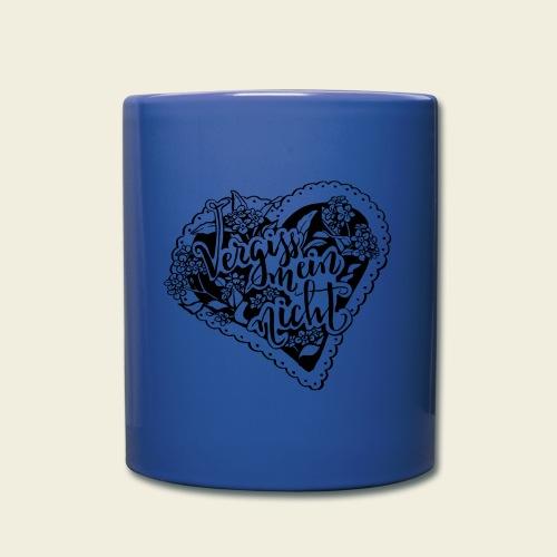 Vergissmeinnicht-Herz - Tasse einfarbig
