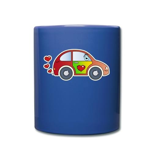 Kids Car Spielzeugauto Herzen bunt fröhlich Kinder - Full Colour Mug